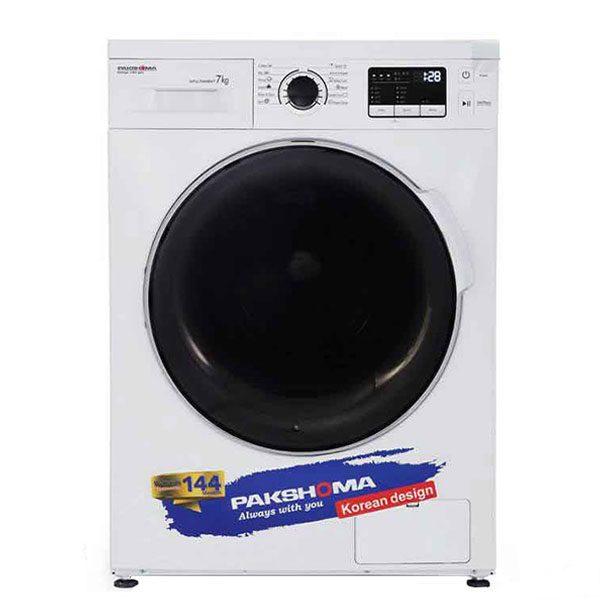 ماشین لباسشویی پاکشوما مدل WFU-70408 با ظرفیت 7 کیلوگرم