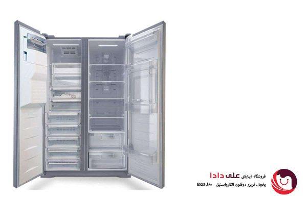 خرید یخچال فریزر دوقلوی الکترواستیل مدل ES23 هوم بار و یخساز اتوماتیک
