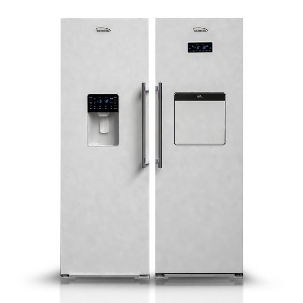 یخچال فریزر الکترواستیل مدل Es23 یخساز اتوماتیک سری یونیک UNIQUE