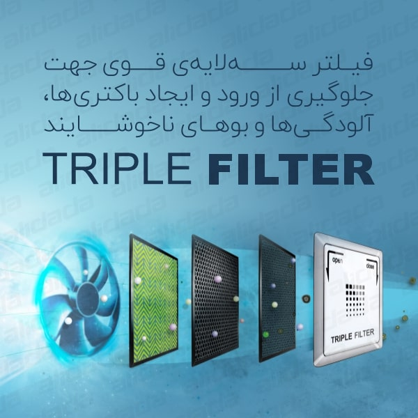 فیلتر سه لایه یخچال و فریزر ساید بای ساید اسنوا مدل S8-3350