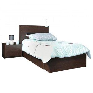 تخت خواب تک نفره کشودار آدونیس عرض ۹۰