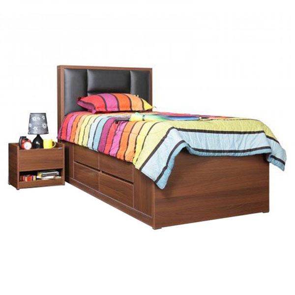تخت خواب تک نفره کشودار رادین عرض ۹۰