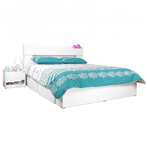 تخت خواب دونفره کشودار آدونیس عرض ۱۸۰