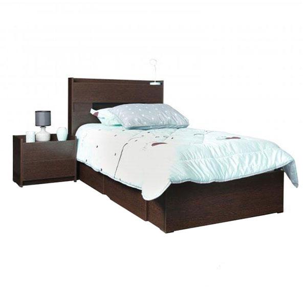 تخت خواب یک و نیم نفره کشودار آدونیس عرض ۱۲۰