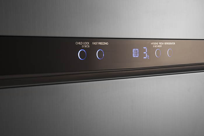 نمایشگر لمسی یخچال بالا پایین دیپوینت مدل t7