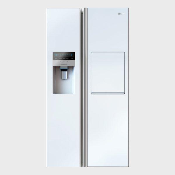 یخچال فریزر ساید بای ساید اسنوا سری هایپر مدل S8-2322 رنگ سفید متالیک