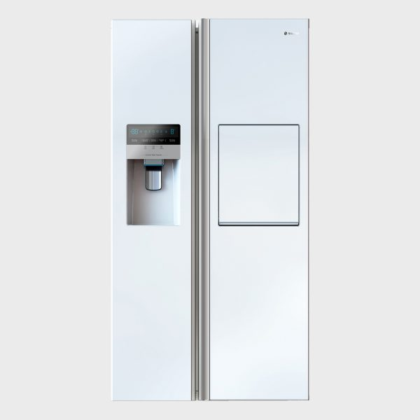 یخچال فریزر ساید بای ساید سری هایپر مدل S8-2352 رنگ سفید متالیک